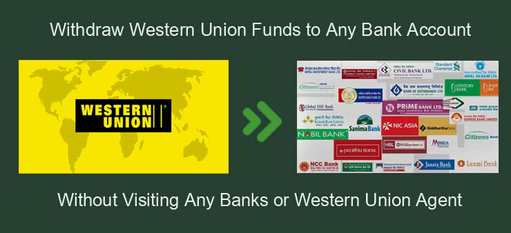 Withdraw Western Union Funds to Bank Account